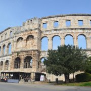 Pula arena from the outside