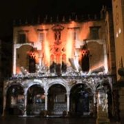 Spectacular light illusion on Dubrovnik Sponza Palace