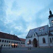 Timelapse video of Crkva sv Marka / St Mark's Church, Zagreb