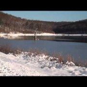 Zima na slatinskom jezeru Javorica, 29.12.2014.