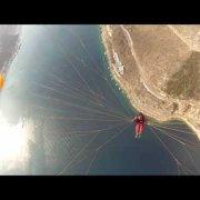 Paragliding in Croatia-fly over the bay of Bakarac
