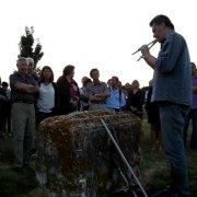 Double flute player at Nesactium, Croatia