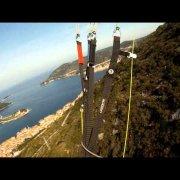 Vis town paragliding