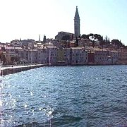rovinj old town harbour croatia october 2009