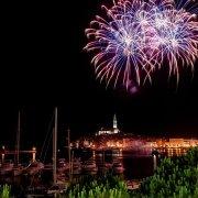 Rovinj (Croatia) Fireworks Timelapse