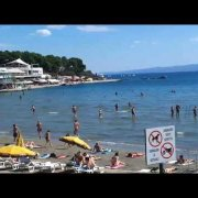 Bacvice sand beach in Split Croatia