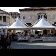 The Forum Pula hosting a Roman Market, Pula, Croatia