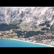 Beach in Baska, Island Krk, Croatia, beautiful beach