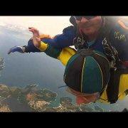 Skydiving above Medulin, Croatia
