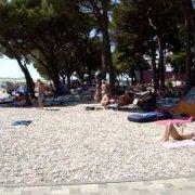 Pogled okolo kraj plaze Drazica, Biograd na moru
