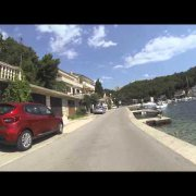 Chorvatsko 2014 - Jadranovo - jízda po nábřeží